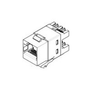 Tyco Electronics 1375192-6 Snap-In Connector, SL110 Modular Jack, Unshielded, Cat 3, Blue