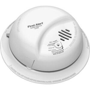 """BRK-First Alert CO5120PDBN Carbon Monoxide Alarm, 5.4"""" x 1.9"""", 120Volt AC, 60Hz, 9 Volt Battery Back-Up"""
