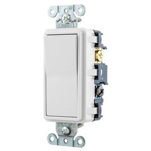 Hubbell-Bryant RSD415W Four-Way Decora Switch, 15A, 120/277VAC, White