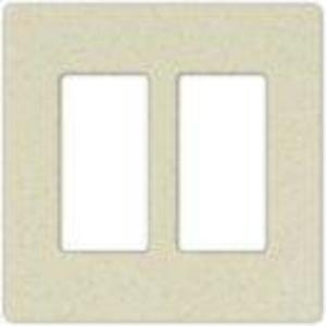 Lutron SC-2-DS Dimmer/Fan Control Wallplate, 2-Gang, Satin Series, Desert Stone Finish