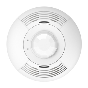 Lutron LOS-CDT-500-WH Dual technology ceiling mount wired sensor; 180 degrees field of view covering 500 sq. feet