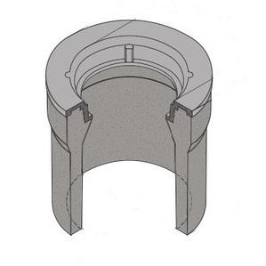 "Oldcastle Precast 1000390 Underground Pullbox, 10"" Diameter, Reinforced Concrete"