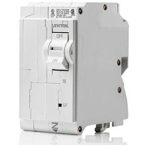 Leviton LB215-AF Circuit Breaker, 15 Amp, 2-Pole, AFCI
