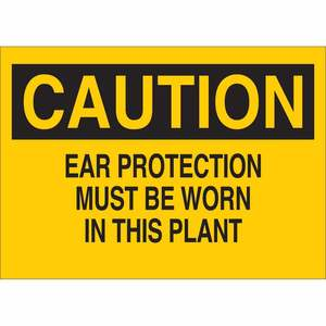 25459 EAR PROTECTION SIGN