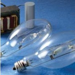 Venture Lighting MP450W/BU/UVS/PS Metal Halide Lamp, Pulse Start, ED37, 450W, Clear