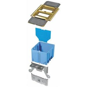Carlon B234BFBB Adjustable Floor Box, 2-Gang, Type: GFCI Receptacles, Depth: 3""