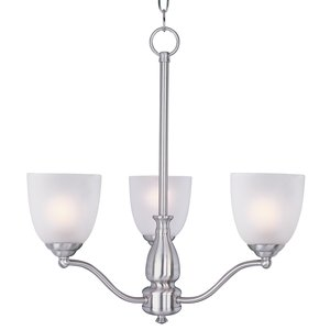 Maxim Lighting 10064FTSN Chandelier, 3-Light, 60W, Incandescent,  Satin Nickel