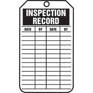 Panduit PCT-1136-Q 10-MIL TAG, INSPECTION RECORD 25/PK