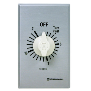 Intermatic FF2H Spring Wound Timer, Commercial, 2-Hour, 7/10/20A, 125/250/277V