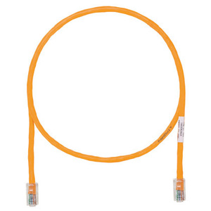 Panduit UTPCH1MORY Patch Cord, Category 5e, UTP, RJ45, 24 AWG, Copper, Orange, 1'