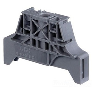 Entrelec 1SNK900001R0000 Terminal Block, End Stop, 9.9mm, Type: BAM4, Gray