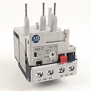 Allen-Bradley 193-T1AA63 Relay, Overload, 0.45 - 0.63A, T1, IEC, Bi-Metallic