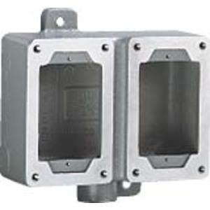 "Hubbell-Killark SWB-8 Device Box, 2-Gang, Dead-End, Type SWB, 3/4"", Aluminum"