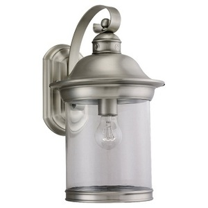 Sea Gull 88082-965 Lantern, Outdoor, 1 Light, 100W Max, Antique Brushed Nickel