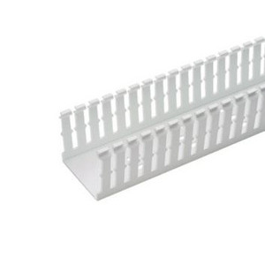 "Panduit F1X3WH6 Wiring Duct,  Narrow Slot, 1"" x 3"" x 6', PVC, White"