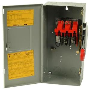 Eaton DH361UGK Safety Switch, 30A, 3P, 600VAC/250VDC, Type DH, Non-Fusible, NEMA 1