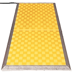 Allen-Bradley 440F-M1515BYNN Safety Mat, 750 x 750mm, Yellow, 2 x 4.5m x 2-Wire Cables