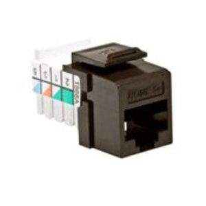 Leviton 5EHOM-RB5 Snap-In Jack, Cat 5e, Brown