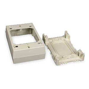 Wiremold 2347-WH Device Box, 1-Gang, 2300 Series Raceway, White