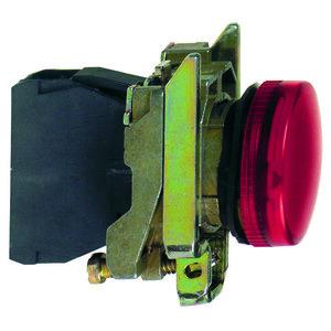 Square D XB4BV64 Pilot Light, Red, Incandescent, BA9s, 2.4W, 22mm, 250V AC/DC