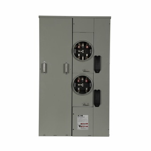 Eaton 1MP2204RRLB Meter Pack, 200A, 2 Socket, 400A, Bus, Ringless Type, Horn Bypass