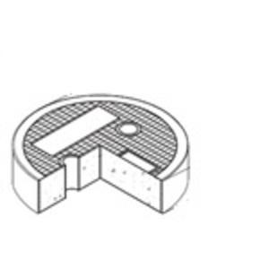 "Oldcastle Precast 1008800 Round Concrete Lid, Reinforced, Diameter: 8-7/8"", Legend: GROUND"