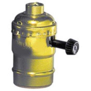 Leviton 10083-16 Incandescent Lampholder, Medium Base, Brass