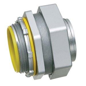 "Arlington LT75 Liquidtight Connector, Straight, 3/4"", Die Cast Zinc"