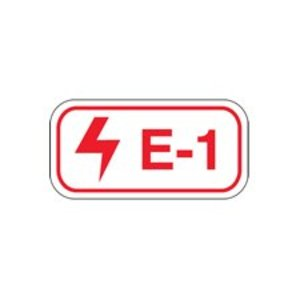 "Brady 105679 B401 1.5""x3"" Red/wht Energy Tags 25/pk"
