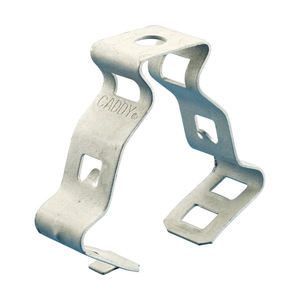 "nVent Caddy 6M Conduit Clips, 3/8"" Flexible Conduit, 9/32"" Hole, 1/4-20 Thread, Steel"