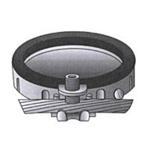 "OZ Gedney BLG-4124 Grounding Bushing, Insulated, Size: 4"", Malleable Iron/Zinc"
