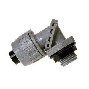 "Hubbell-Raco 4733 Liquidtight Connector, 3/4"", Swivel: 0 to 90°, Non-Metallic"