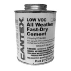Cantex 7210412 Conduit All Weather PVC Cement, 1Pint