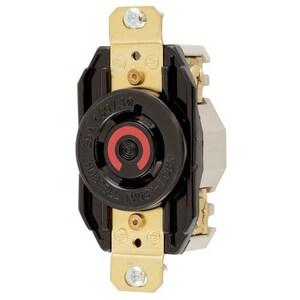 Hubbell-Kellems HBL2430 Locking Receptacle, 20A, 3PH 480VAC, L16-20R, 3P4W
