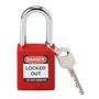 99552 SAFETY PADLOCK 15IN KD RED 1 KEY