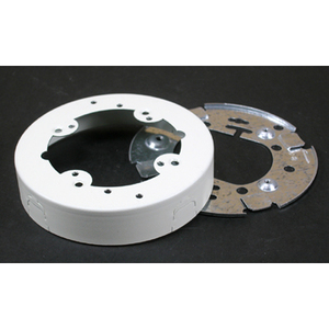 "Wiremold 5737WH 4-3/4"" Round Extension Box, Open Base"