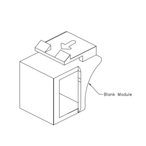 ICC IC107BN0BK Snap-In Blank, Black, for IC107 Faceplates