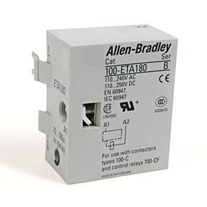 Allen-Bradley 100-ETA180 Contactor, IEC, Timing Module, On-Delay, Electronic, 10 - 180 Second