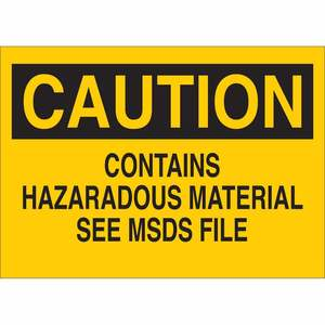 22270 CHEMICAL & HAZD MATERIALS SIGN
