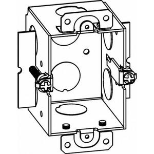 "Orbit Industries TGW Switch/Outlet Box, 1-Gang, Depth: 2-1/2"", Ear Brackets, Non-Metallic"
