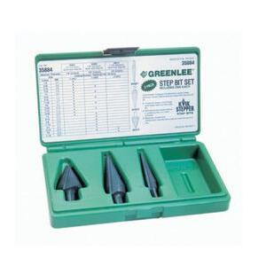 Greenlee 35884 4-Piece Kwik Stepper Step Bit Kit