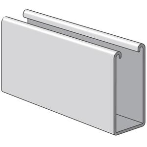 "Power-Strut PS100EH-10PG Channel - Elongated Holes, Steel, Pre-Galvanized, 1-5/8"" x 3-1/4"" x 10'"
