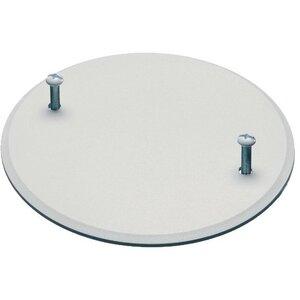 "Arlington CP40 Round Box Cover, Diameter: 4"", White, Non-Metallic"
