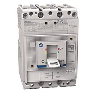 Allen-Bradley 140G-H2C3-C70 Circuit Breaker, Molded Case, Frame H, 70A, 3P, 600VAC