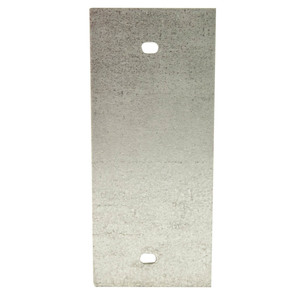 Wiremold SGT-B Panel Device Plate, 1-Gang, Device Type: Blank, Metallic