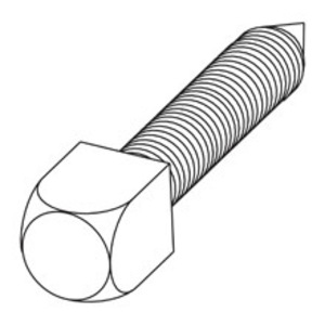 Eaton B-Line 3/8X2CNPSSZN SQUARE HEAD CONE POINT SET SCREWS, 3/8-IN. X 2-IN., ZINC PLATED