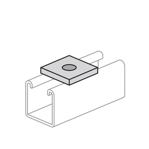 Power-Strut PS619-1/4-SS Flat Square Washer