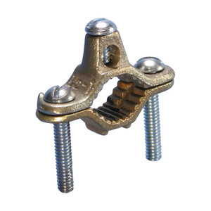 "nVent Erico CWP1J Ground Clamp, 1/2 to 1"", 2 to 10 AWG, Bronze"