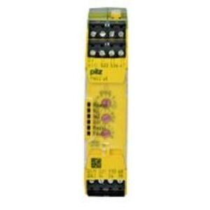 Pilz 750105 Relay, Safety, Stand Alone, 24VDC, 1 2 Channel Input, 2 NO Outputs