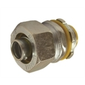 "Hubbell-Raco 3518 Liquidtight Connector, Straight, 2"", Insulated, Malleable Iron"